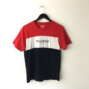 Pull & Bear Since 1991 Graphic Tee Shirt Small Red